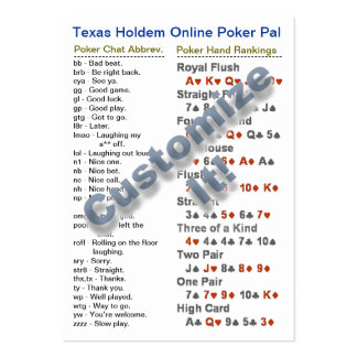 Texas Holdem Online Poker Pal Wallet Card Pack Of Chubby Business Cards