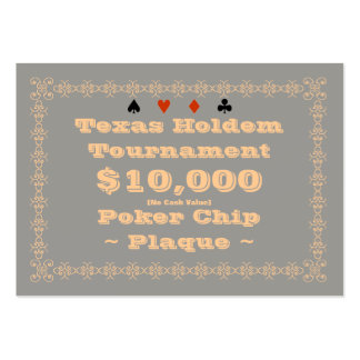 Texas Holdem Poker Chip Plaque $10k (100ct) Business Card
