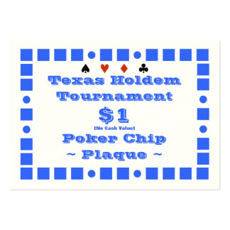 Texas Holdem Poker Chip Plaque $1 (100ct) Business Cards