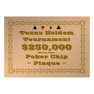 Texas Holdem Poker Chip Plaque $250k (100ct) Business Card Templates