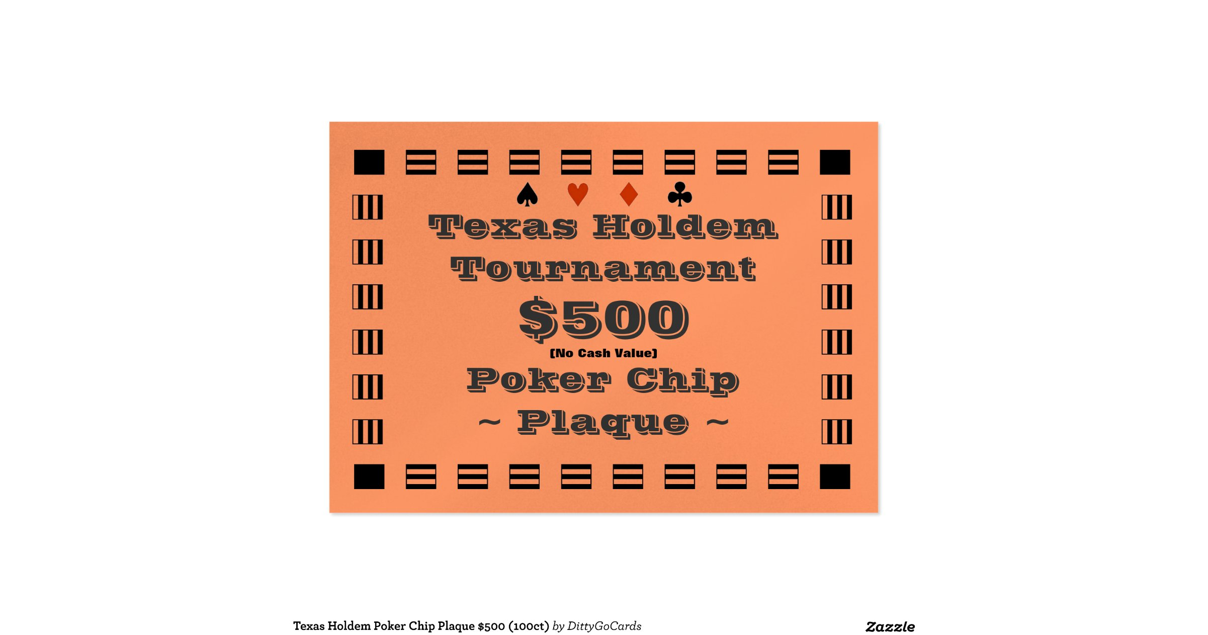 How many chips start with in texas holdem