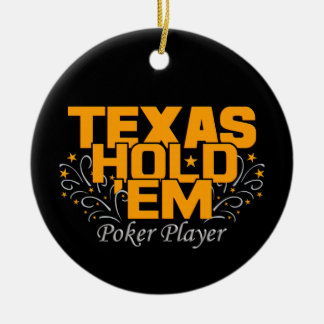 Texas Hold'Em Poker ornament, customize Ceramic Ornament