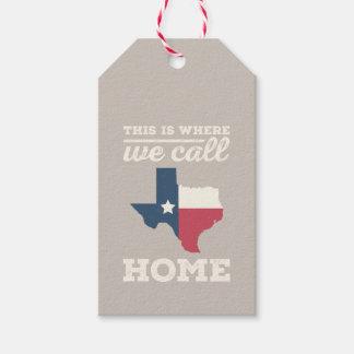 Texas Home Flag Gift Tags