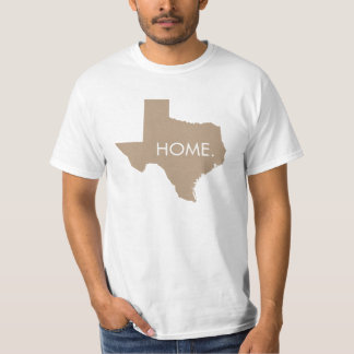 Texas Home State Mocha Brown T Shirts