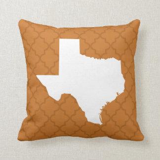 Texas Home State Quatrefoil Throw Pillow
