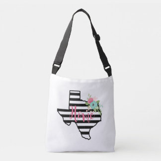Texas Home State Striped Black and White Bag