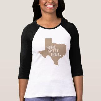 Texas Home Sweet Home Mocha Brown T Shirts