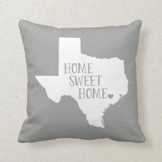 Texas Home Sweet Home State Throw Pillow