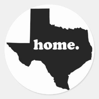 Texas Home Version 1 Round Sticker