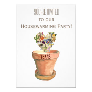 Texas Housewarming Party Card