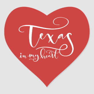 Texas in my Heart Sticker