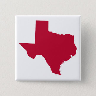 Texas in Red 15 Cm Square Badge