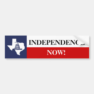Texas Independence Flag with Gadsden Rattlesnake Bumper Sticker