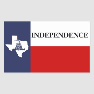 Texas Independence - Lone Star Flag Gadsden Rectangular Sticker