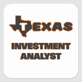 Texas Investment Analyst Square Sticker