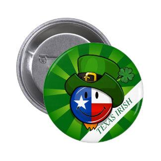 Texas Irish St. Patrick's Day Custom Button