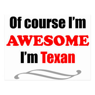 Texas Is Awesome Postcard