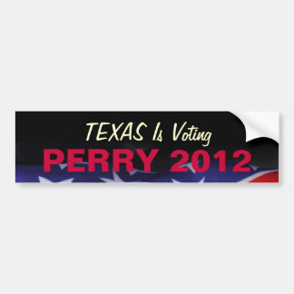 TEXAS Is Voting PERRY 2012 Bumper Sticker