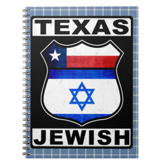 Texas Jewish American Notepad Notebook