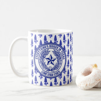 Texas Logo Bluebonnet Pattern Your Text Coffee Mug