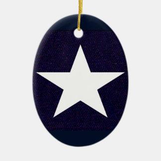 Texas Lone Star Ceramic Ornament