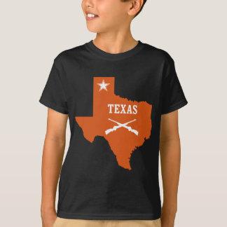 Texas Lone Star Crossed Guns U.S. Custom Ink T-Shirt