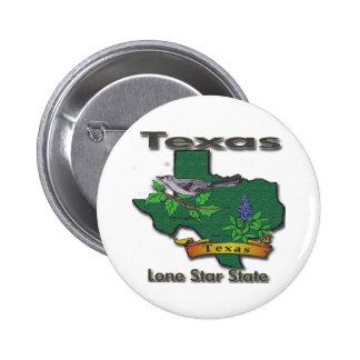 Texas Lone Star State Bird Flower Pinback Button