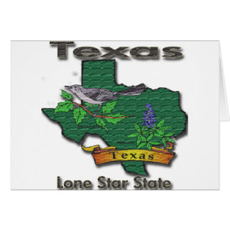 Texas Lone Star State Bird Flower Greeting Card