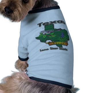 Texas Lone Star State Bird Flower Dog T Shirt