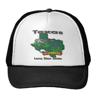 Texas Lone Star State Bird Flower Trucker Hat