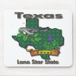 Texas Lone Star State Bird Flower Mousepad