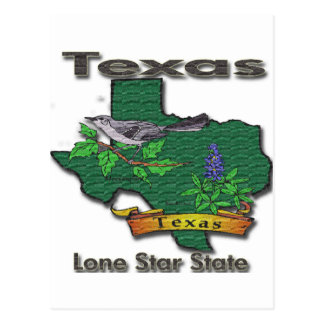 Texas Lone Star State Bird Flower Post Cards