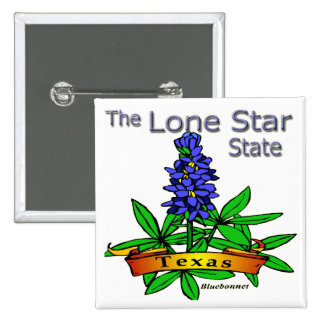 Texas Lone Star State Bluebonnet Pinback Buttons