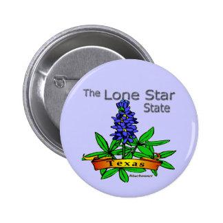 Texas Lone Star State Bluebonnet Pinback Button