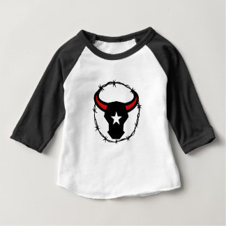Texas Longhorn Barbed Wire Icon Baby T-Shirt
