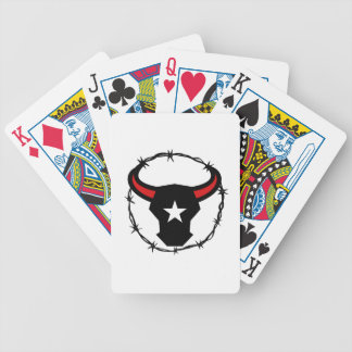 Texas Longhorn Barbed Wire Icon Bicycle Playing Cards
