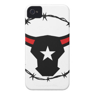 Texas Longhorn Barbed Wire Icon Case-Mate iPhone 4 Case