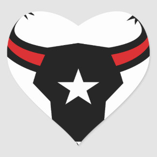 Texas Longhorn Barbed Wire Icon Heart Sticker