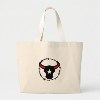 Texas Longhorn Barbed Wire Icon Large Tote Bag
