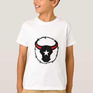 Texas Longhorn Barbed Wire Icon T-Shirt