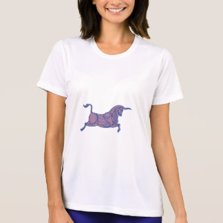 Texas Longhorn Bull Charging Mono Line T-Shirt