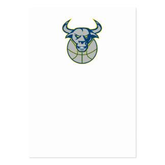 Texas Longhorn Bull Head Basketball Business Card