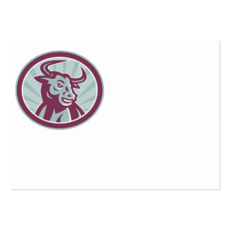 Texas Longhorn Bull Retro Business Card Templates