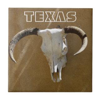 TEXAS-Longhorn Cow Skulls Tile
