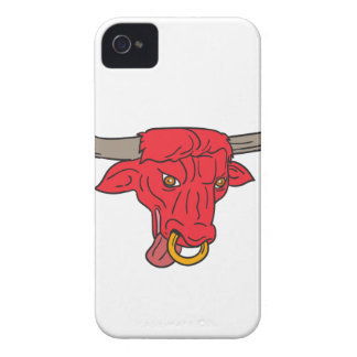 Texas Longhorn Red Bull Drawing Case-Mate iPhone 4 Cases
