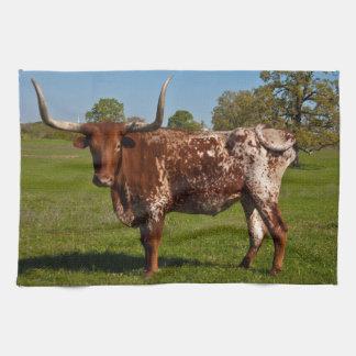 Texas Longhorn Tea Towel