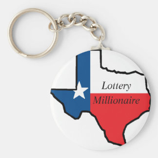 Texas Lottery Millionaire Basic Round Button Key Ring