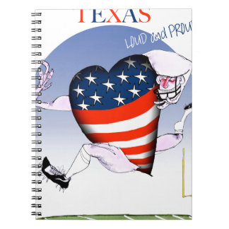 texas loud and proud, tony fernandes spiral notebook
