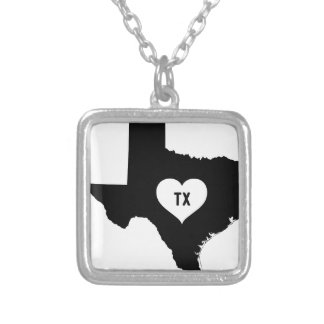 Texas Love Silver Plated Necklace