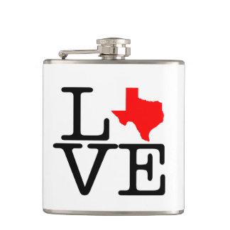 Texas Love Vinyl Wrapped Flask